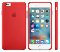 Oryginalne Silikonowe etui do Apple iPhone 6s+ plus Red (Czerwone)